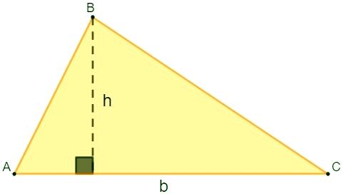 Exemplo de um triângulo.