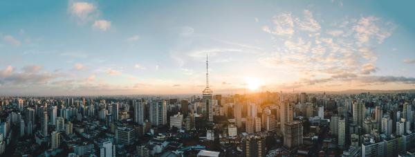 Horizonte da cidade de São Paulo (SP).