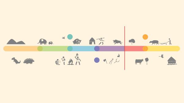 As eras geológicas representam subdivisões na escala de tempo geológico.