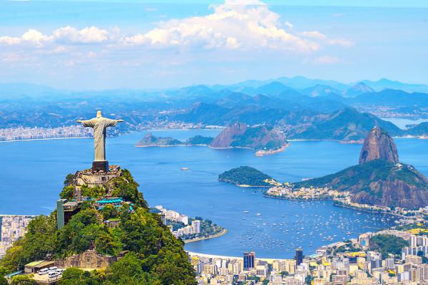 Visão aérea da cidade do Rio de Janeiro
