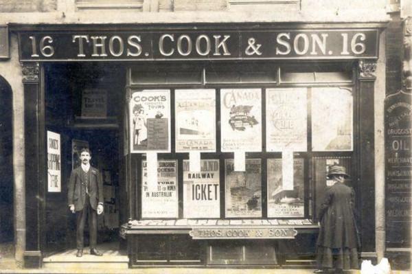 Fachada da empresa criada por Thomas Cook no século XIX.