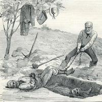 ilustração escravo e capataz