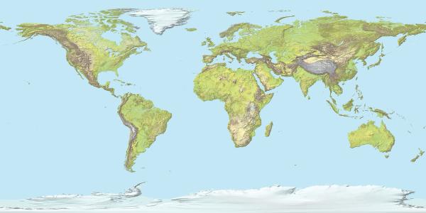 O conjunto de diferentes feições topográficas encontradas na superfície terrestre recebe o nome de relevo.