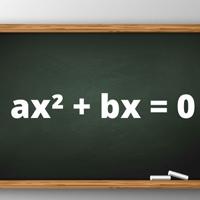 Equação de 2º grau incompleta escrita em quadro verde