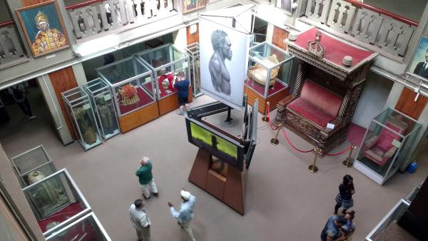 Foto do Museu Nacional da Etiópia.