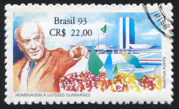 Selo em homenagem a Ulysses Guimarães.