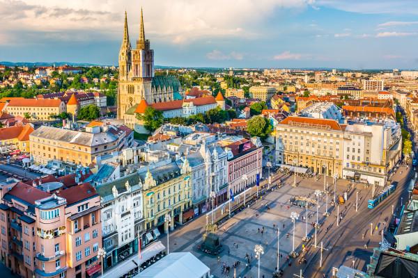Imagem aérea de Zagreb.