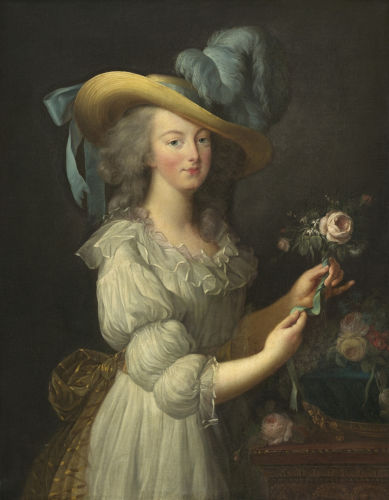 Maria Antonieta, a rainha consorte da França quando a Revolução Francesa eclodiu.