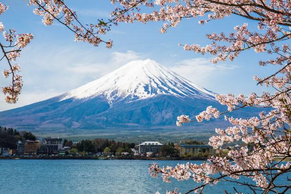 Vista do monte Fuji, no Japão.