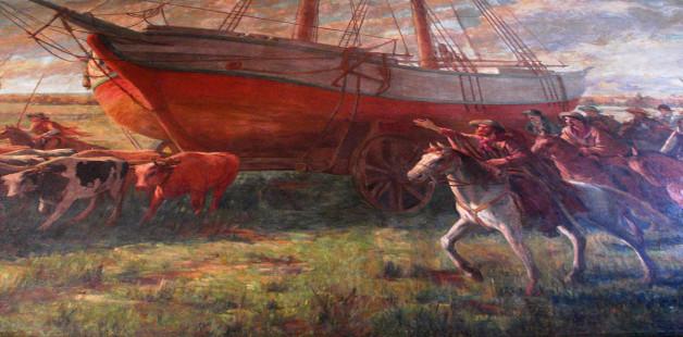 Pintura representando a Revolução Farroupilha