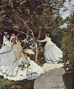 """""""Mulheres no Jardim"""" de Claude Monet."""
