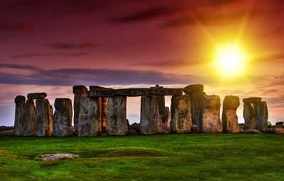Santuário de Stonehenge, próximo a Londres, Inglaterra