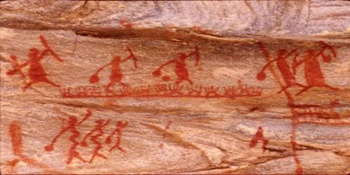 As pinturas rupestre são fonte de informação sobre este período.