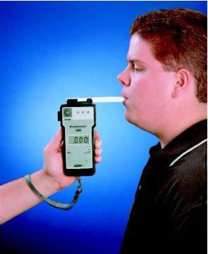 Teste de bafômetro