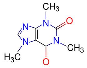 Estrutura química da cafeína