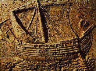 Fenícios, povos dedicados ao comércio marítimo.