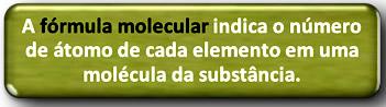 Definição de fórmula molecular