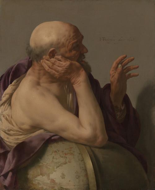 Heráclito de Éfeso retratado em pintura do escocês Hendrick ter Brugghen.