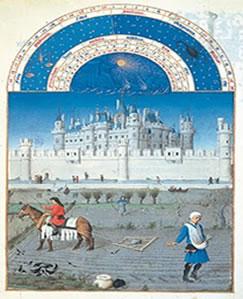 Iluminura que simboliza o modo de vida feudal
