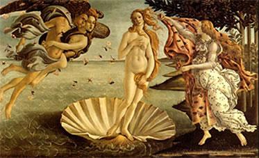 O nascimento de Vênus (1945) – Sandro Botticelli