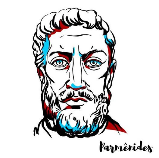 Parmênides, filósofo grego pré-socrático defensor do monismo e do imobilismo.