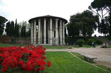 Templo de Vesta, a deusa do fogo na mitologia romana.
