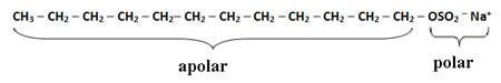 Composição do tensoativo aniônico dos xampus, o lauril ou dodecilsulfato de sódio