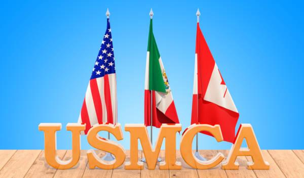 USMCA é a sigla em inglês para Acordo Estados Unidos – Mexico – Canadá.