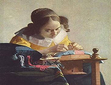 """A beleza delicada da vida cotidiana """"A rendeira"""".  Vermeer (1632-1675)"""