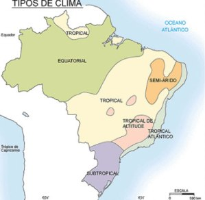Principais climas do Brasil.