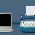 Computador e máquina de escrever