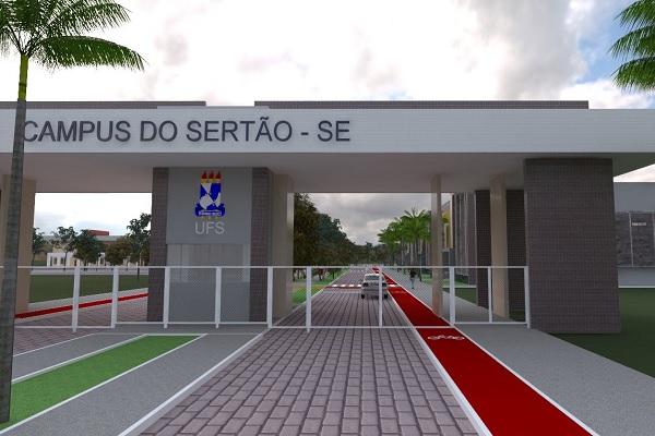 Projeto da fachada do campus UFS Sertão