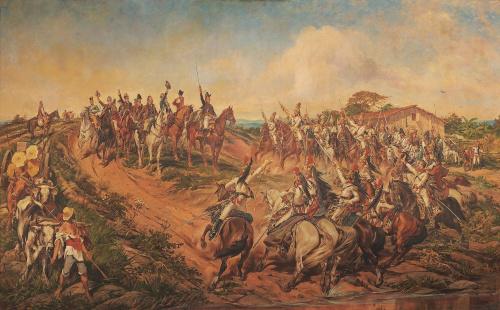 Independência ou Morte, por Pedro Américo, óleo sobre tela, 1888. Exposta no Museu Paulista.