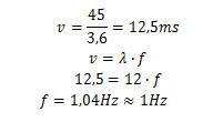 Cálculo de frequência em hertz de ola mexicana