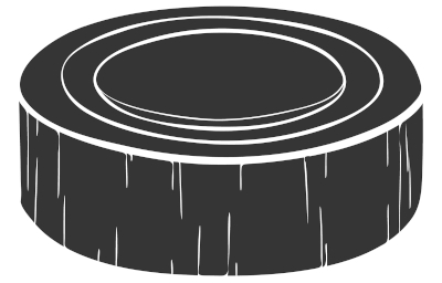 Representação de disco utilizado em hóquei no gelo