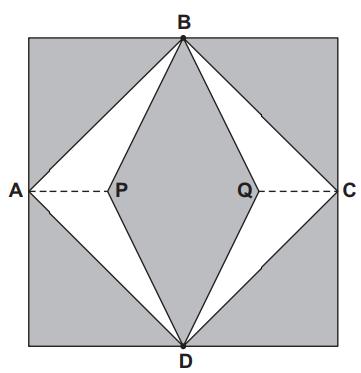 Representação de vitrais compostos de quadrados de lado medindo 1 m — enunciado questão Enem 2012