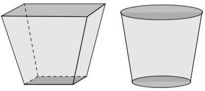 Representação de duas opções distintas para vasos de flores