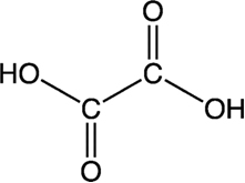 Fórmula estrutural do ácido oxálico