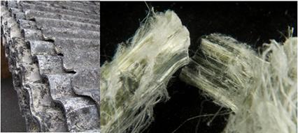 O amianto ou asbesto é usado na produção de telhas