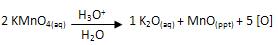 Reação de decomposição do permanganato de potássio