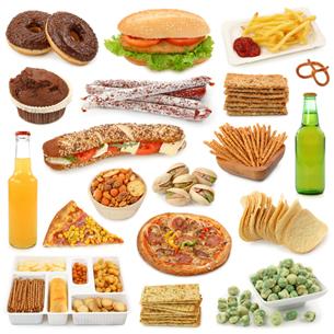 Alimentos não saudáveis, cujo consumo deve ser restrito