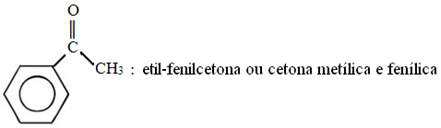 Nomenclatura usual de 1-feniletanona