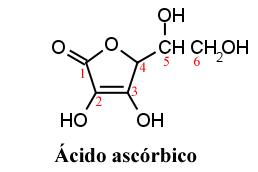 Fórmula do ácido ascórbico