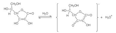 Primeira ionização do ácido L-ascórbico