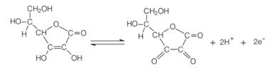 Oxidação do ácido ascórbico ao ácido dehidroascórbico