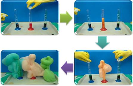 Processo do experimento da pasta de dente de elefantes*