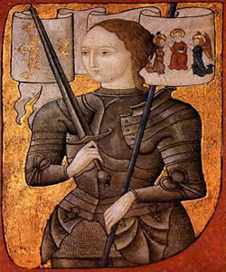 Reprodução Medieval de Joana D'arc