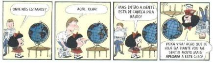 Mafalda e o mundo virado de cabeça para baixo