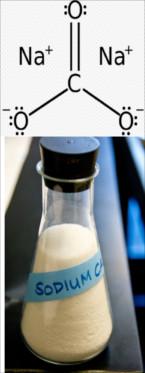 Fórmula e imagem de carbonato de sódio