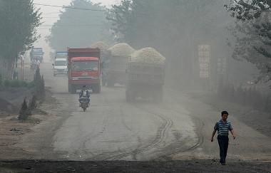 Produção de carvão na cidade de Linfen, China